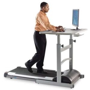 Manual Height Adjustable Classroom Exercise Workstation for Under Desk Treadmill or Stationary Cycle
