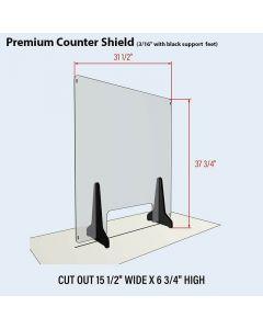 Polycarbonate Counter Shield