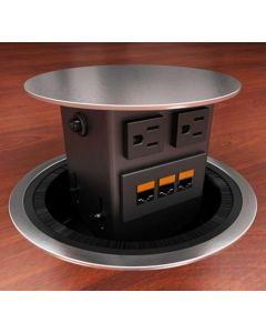 Concept Round Top Power & Data Hub for Conference Tables
