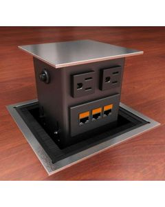 Concept Square Top Conference Table Power & Data Hub