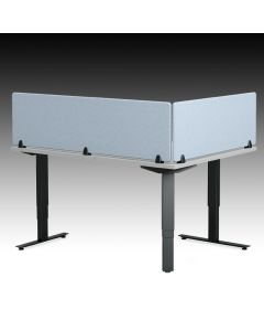 Acoustic desk dividers and partitions