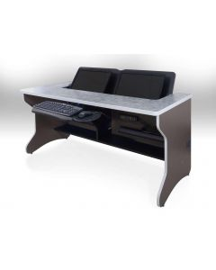 Classroom Computer Desk with Dual Monitors in Laminate Finish