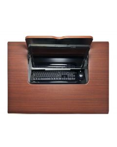 iLid Flip-Screen Computer Tables with Keyboard Storage, Laminate