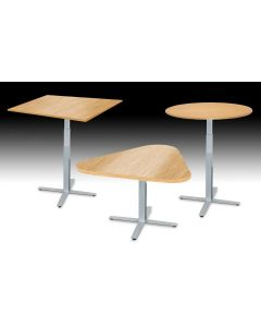 Adjustable height pneumatic sit to stand computer desk with different top shapes