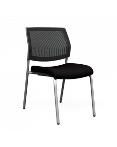 Focus Side Chair Armless with Black mesh back and upholstered seat