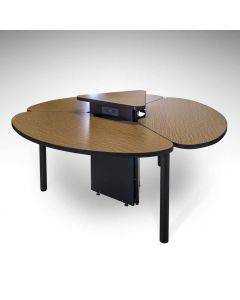 Collaborative Conference Table with accessible center power and data cabinet