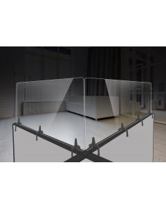 Polycarbonate Cubicle Wall Extender