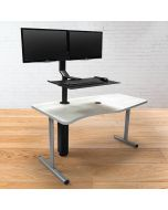 SMARTdesk Jump Table for Dual Monitors in Raised Position