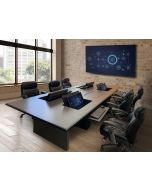 Computer Conference Table with Urethan Edge and Concealed Monitor Mounts